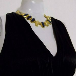Vintage ANNE KLEIN necklace 80s Lion Logo